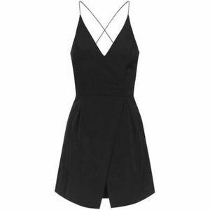Topshop Black Strappy Bonded Mini Dress